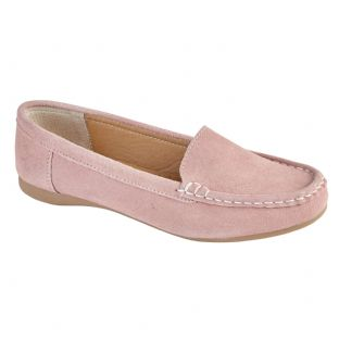 Jo & Joe Womens Mykonos Blush Slip On Suede Leather Loafers Moccasin Casual Shoes